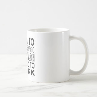Born To Modern Pentathlon Forced To Work Coffee Mug