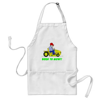 Born To Mow Adult Apron