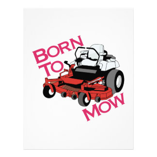 Born To Mow Letterhead