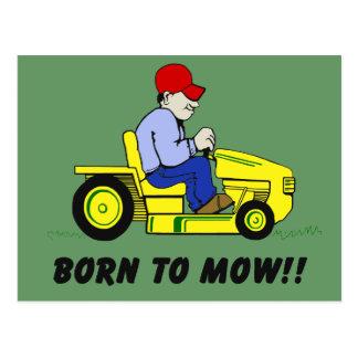 Born To Mow Postcard