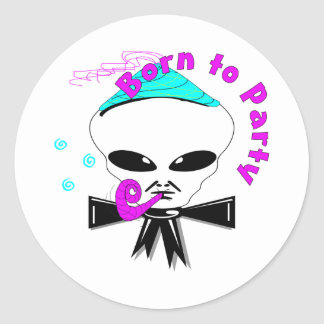 Born To Party Classic Round Sticker