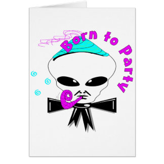 Born To Party Greeting Card