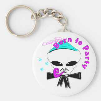 Born To Party Keychain