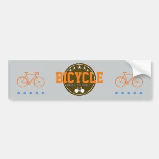 born to pedal bike-themed bumper sticker