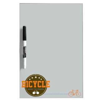 born to pedal bike-themed dry erase whiteboards