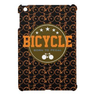 born to pedal bike-themed iPad mini case