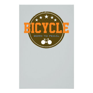 born to pedal bike-themed stationery