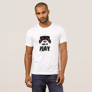 Born to Play Apparel Crew Neck T-Shirt, White T-Shirt