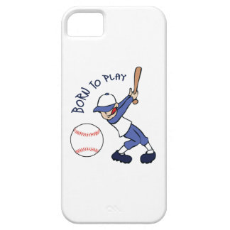 BORN TO PLAY BASEBALL iPhone 5 CASES