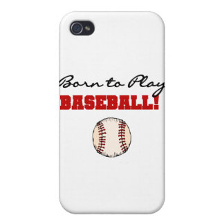 Born to Play Baseball T-shirts and Gifts iPhone 4/4S Cases