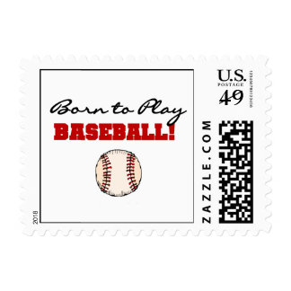 Born to Play Baseball T-shirts and Gifts Stamp