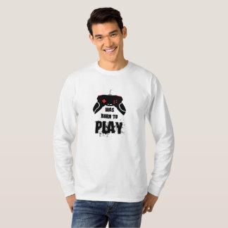 Born to Play, Basic Long Sleeve T-Shirt, White T-Shirt
