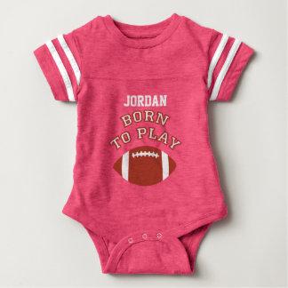 Born To Play Football Baby Bodysuit