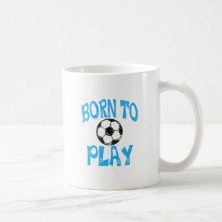 born to play football coffee mug