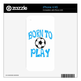born to play football skins for the iPhone 4