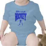 Born to Play Hockey (blue) Baby Creeper