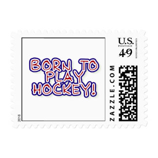 Born to Play Hockey T-shirts and Gifts Postage Stamp