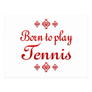BORN TO PLAY TENNIS POSTCARD