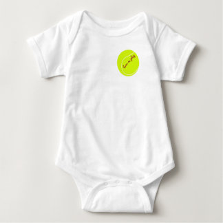 Born to play, with tennis ball, baby bodysuit v. 1