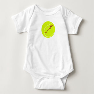 Born to play, with tennis ball, baby bodysuit v. 2