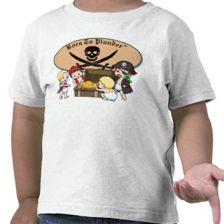 Born To Plunder - Baby Boy Pirates & Treasure Tees