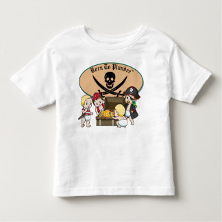 Born To Plunder - Baby Boy Pirates & Treasure Toddler T-shirt