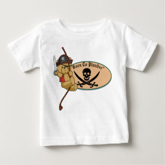 Born To Plunder - Teddy Bear Pirate on Rope Infant T-shirt