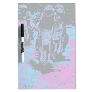"""Born to Race"" Motocross Dirt-Bike Champion Racer Dry-Erase Board"