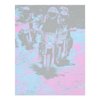 """""""Born to Race"""" Motocross Dirt-Bike Champion Racer Letterhead"""