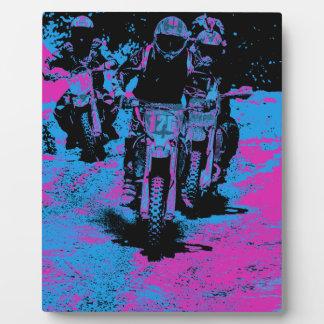 """Born to Race"" Motocross Dirt-Bike Champion Racer Plaque"