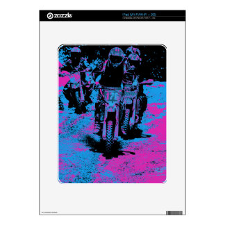 """Born to Race"" Motocross Dirt-Bike Champion Racer Skin For The iPad"