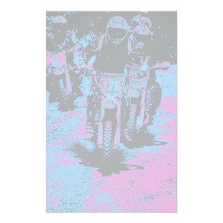 """Born to Race"" Motocross Dirt-Bike Champion Racer Stationery"