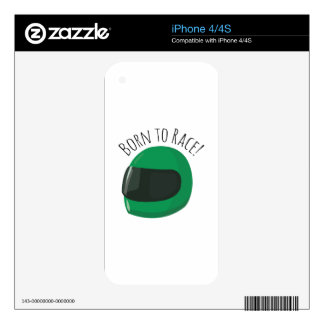 Born To Race! Decal For iPhone 4S