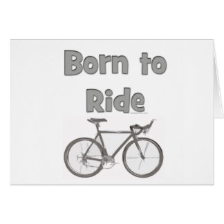 Born to ride card