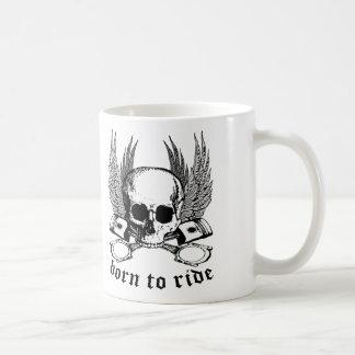 Born To Ride Classic White Coffee Mug