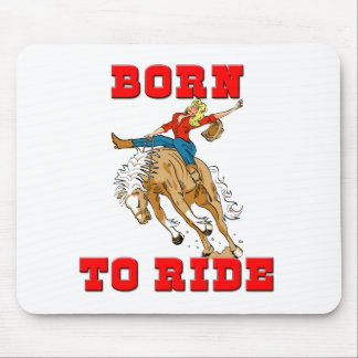 Born to Ride CowGirl Mouse Pad