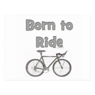 Born to ride postcard