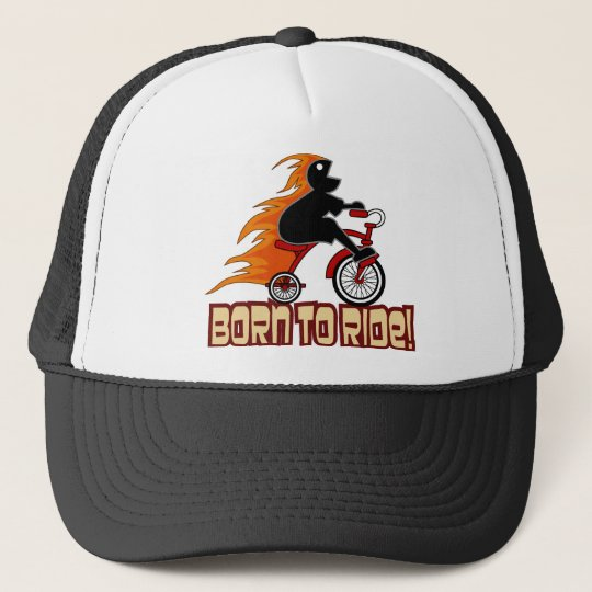 Born To Ride Tricycle Design Trucker Hat
