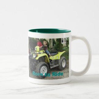 Born to Ride Two-Tone Coffee Mug