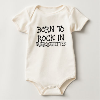 BORN TO ROCK IN MASSACHUSSETTES.png Baby Bodysuit