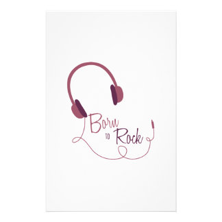Born to Rock Stationery