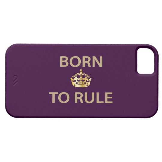 Born To Rule with golden crown iPhone SE/5/5s Case