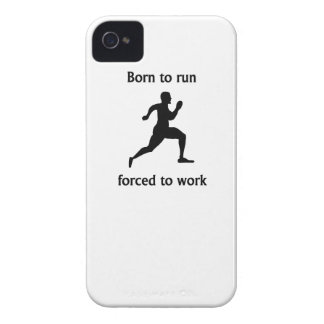 Born To Run Forced To Work Case-Mate iPhone 4 Cases