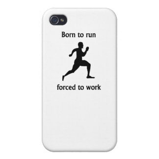 Born To Run Forced To Work Case For iPhone 4