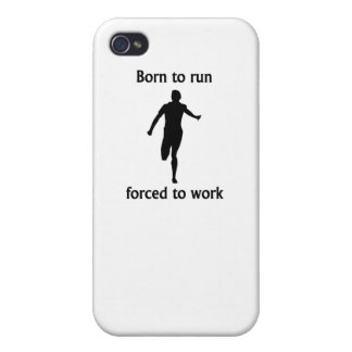 Born To Run Forced To Work iPhone 4/4S Covers