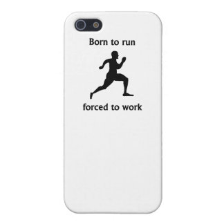 Born To Run Forced To Work iPhone 5 Cover