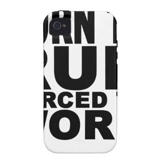 born to run forced to work T-Shirts.png iPhone 4 Cases