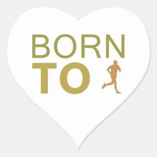 Born To Run Heart Sticker