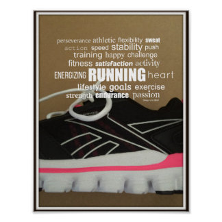 Born to Run Word Collage Poster