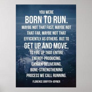 Born To Run - Workout Motivational Poster